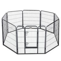 Pet Trex 32-Inch Pet Playpen in Textured Black