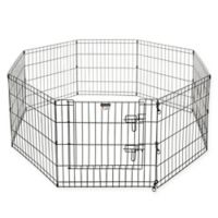 Pet Trex 24-Inch Pet Playpen Panels in Black