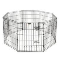 Pet Trex 30-Inch Pet Playpen Panels in Black