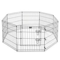Pet Trex 24-Inch Dog Playpen in Black