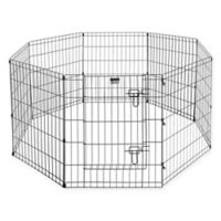 Pet Trex 30-Inch Dog Playpen in Black