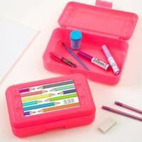 Vibrant Hues Personalized Pink Pencil Box