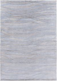 Surya Shibui 8' x 11' Hand-Knotted Area Rug in Blue/Neutral