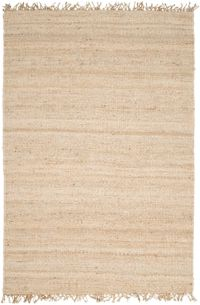 Surya Jute Bleached Natural 5' x 7'6 Area Rug in Cream