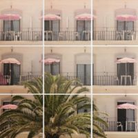 Deny Designs 9-Piece Life in Pink Square Wall Art in White