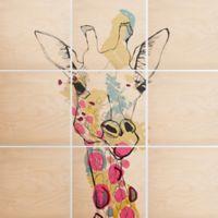 Deny Designs 9-Piece Giraffe Multicolor Square Wall Art