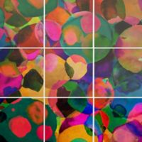 Deny Designs 9-Piece Rainbow Spot Square Wall Art in Green