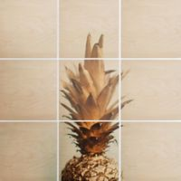 Deny Designs 9-Piece The Pineapple Square Wall Art in Gold