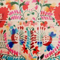 Deny Designs 9-Piece Mexican Surftrip Multicolor Square Wall Art