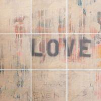 """Deny Designs 9-Piece """"Love Hurts"""" Multicolor Wall Art"""