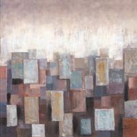 ArtMaison Canada Abstract Blocks Blue III Canvas Wall Art