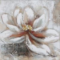 ArtMaison Canada White Flower Love Blossoms II Canvas Wall Art