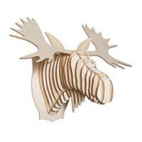 Cardboard Safari Fred the Birch Wood Moose Wall Sculpture
