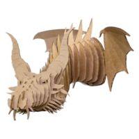 Cardboard Safari Nikita the Cardboard Dragon Wall Sculpture