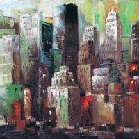 ArtMaison Canada High Rise I 24-Inch Square Canvas Wall Art
