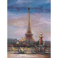 ArtMaison Canada Paris Love 40-Inch x 30-Inch Canvas Wall Art