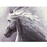 ArtMaison Canada Horse Profile 30-Inch x 40-Inch Canvas Wall Art
