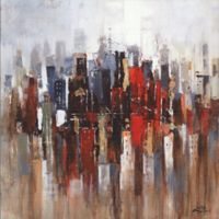 ArtMaison Canada Abstract City 36-Inch Square Canvas Wall Art