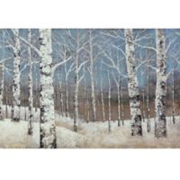 ArtMaison Canada Birch Blues 24-Inch x 36-Inch Canvas Wall Art