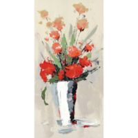 ArtMaison Canada Flower Pots Colorful White 24-Inch x 48-Inch Canvas Wall Art