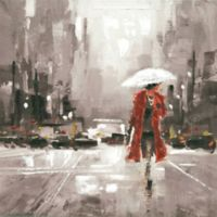 ArtMaison Canada 24-Inch Lady in Red I Wrapped Canvas Wall Art