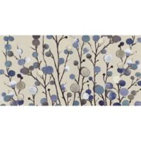 ArtMaison Canada 24-Inch x 48-Inch Blue Florals I Wrapped Canvas Wall Art