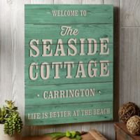 """Home Away From Home Personalizaed Shiplap Sign- 16"""" x 20"""""""