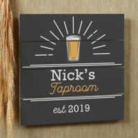 Public House Personalized 12-Inch x 12-Inch Wooden Shiplap Sign