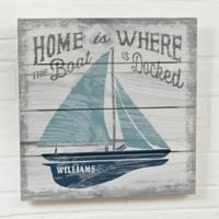 Up North Personalized 12-Inch x 12-Inch Wooden Shiplap Sign