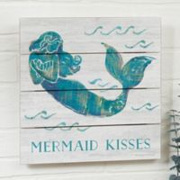 On The Waves Mermaid Personalized 12-Inch x 12-Inch Shiplap Sign
