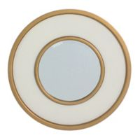 Carolina Living York 30-Inch Round Mirror in Antique White/Gold