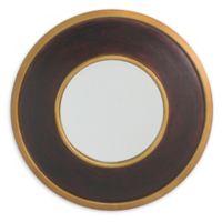 Carolina Living York 30-Inch Round Mirror in Brown/Gold