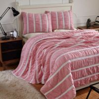 Amity Home Abrielle Twin Quilt Set in Hot Pink