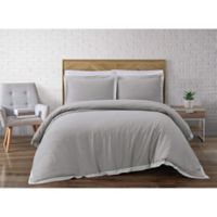 Brooklyn Loom Wilson Reversible Full/Queen Duvet Cover Set in Grey