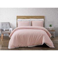 Brooklyn Loom Wilson Reversible Full/Queen Duvet Cover Set in Pink