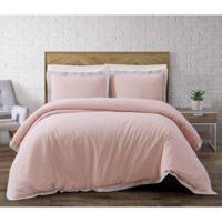Brooklyn Loom Wilson Reversible King Duvet Cover Set in Pink