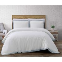 Brooklyn Loom Wilson Reversible King Duvet Cover Set in White