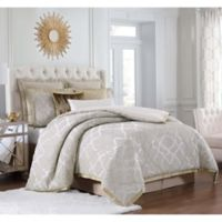 Charisma Paloma Queen Comforter Set in Gold