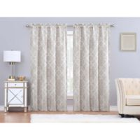 Charisma Paloma 84-Inch Rod Pocket Window Curtain Panel Pair in Gold