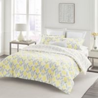 Laura Ashley® Serena Full/Queen Duvet Set in Yellow