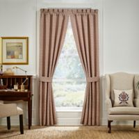 Croscill® Lauryn 95-Inch Rod Pocket Window Curtain Panel Pair in Taupe