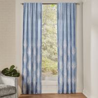 Croscill® Zoelle 95-Inch Rod Pocket/Back Tab Window Curtain Panel Pair in Blue