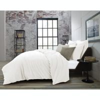 Kenneth Cole Theo Full/Queen Duvet Cover in White