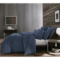 Kenneth Cole Thompson Full/Queen Duvet Cover in Navy