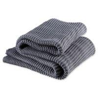 Christy Oslo Throw Blanket in Denim
