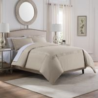 Valeron Laurette Full/Queen Duvet Cover Set in Taupe