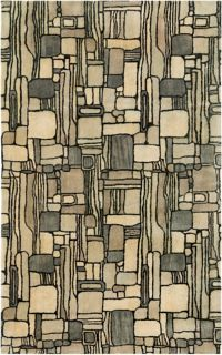 Surya Natural Affinity Rectangles 5' x 7'6 Area Rug in Black