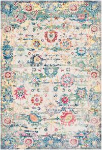Surya Aura Floral 7'10 x 10'3 Loomed Area Rug in Sky Blue