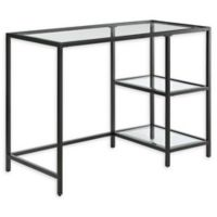 Marcello Steel and Glass Desk in Black
