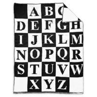 Alphabet Baby Blanket in Black/White